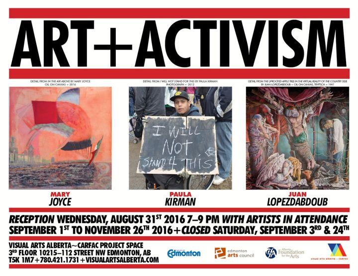 Art + Activism poster